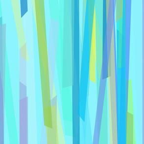 Ribbons Blue on Aqua 150