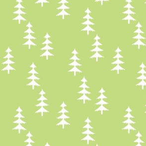 Trees (green) Woodland Forest Fabric