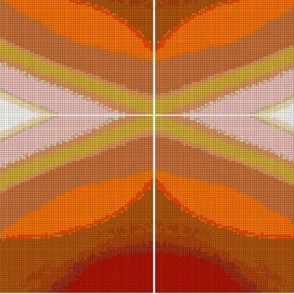 Orange Waves and Diamonds