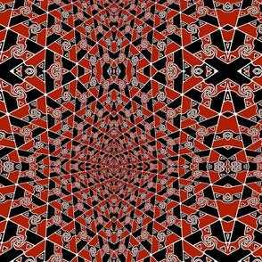 red and black tri-arrow diamonds