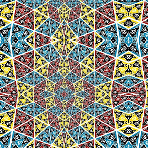 red yellow and blue pattern