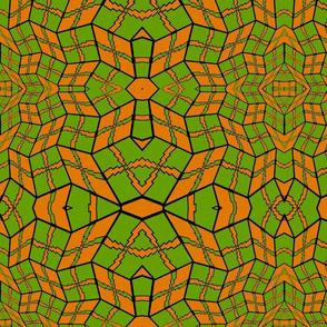 green and orange pattern