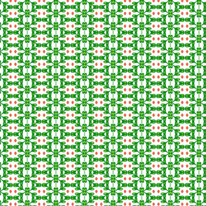 Leafy pattern - bright green
