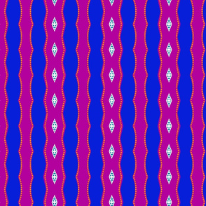 magenta & blue waves