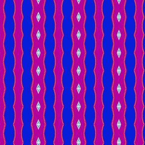 magenta & blue waves