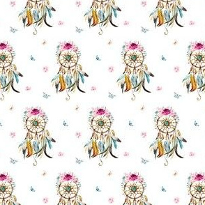 Small dream catcher with feathers