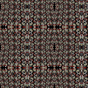 red yellow and black pattern
