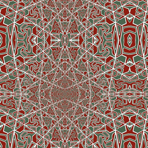 green and red pattern