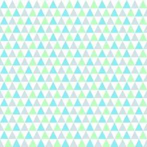 Aqua, Mint, Blue-gray, Triangles, medium