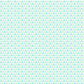 Aqua, Mint, Blue-gray, Triangles, small