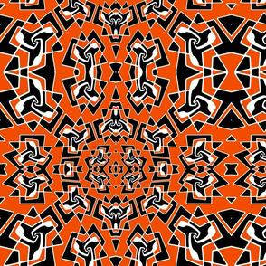 orange and black pattern