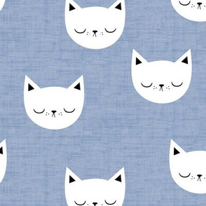 Kitties - Denim Blue