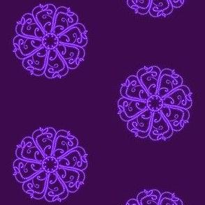 Swirly Spots on Dark Grape