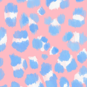 Abstract Sketch Leopard Spots (Blue and Pink)