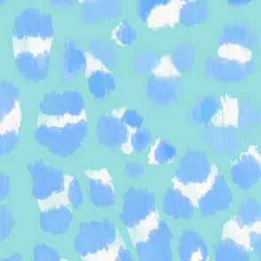 Abstract Sketch Leopard Spots (Blue and Limpet Shell)