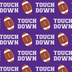 Touch Down - purple - college football - LAD19