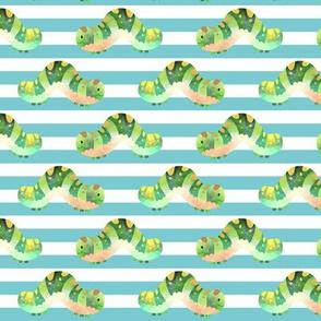Happy Caterpillars (blue stripe)