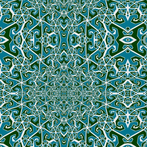 blue and green pattern