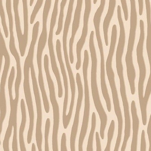 ★ TIGER OR ZEBRA ? ★ Beige – Small Scale - Vertical / Collection : Wild Stripes – Punk Rock Animal Prints 2