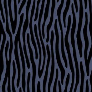★ TIGER OR ZEBRA ? ★ Brut Denim Indigo Blue – Small Scale - Vertical / Collection : Wild Stripes – Punk Rock Animal Prints 2