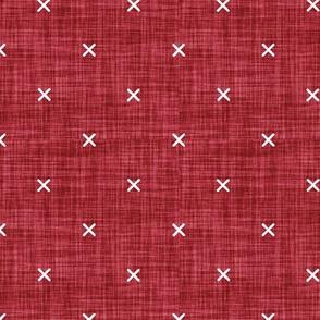 x // red linen