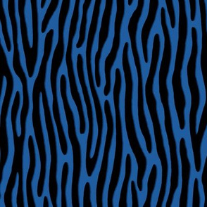 ★ TIGER OR ZEBRA ? ★ Blue – Small Scale - Vertical / Collection : Wild Stripes – Punk Rock Animal Prints 2