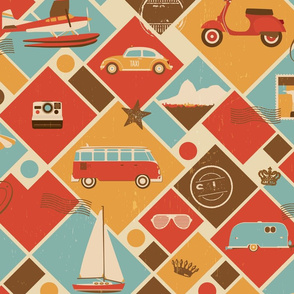 Retro travel love