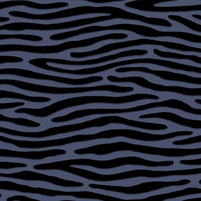 ★ ZEBRA OR TIGER ? ★ Brut Denim Indigo Blue – Small Scale - Horizontal / Collection : Wild Stripes – Punk Rock Animal Prints 2
