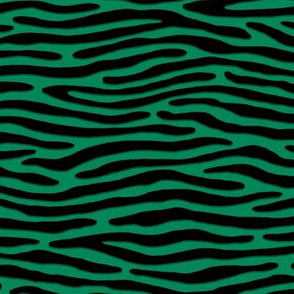 ★ ZEBRA OR TIGER ? ★ Green – Small Scale - Horizontal / Collection : Wild Stripes – Punk Rock Animal Prints 2