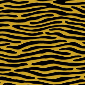 ★ ZEBRA OR TIGER ? ★ Mustard Yellow – Small Scale - Horizontal / Collection : Wild Stripes – Punk Rock Animal Prints 2