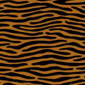 ★ ZEBRA OR TIGER ? ★ Yellow Ochre – Small Scale - Horizontal / Collection : Wild Stripes – Punk Rock Animal Prints 2
