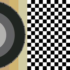 race_flag_gold_black