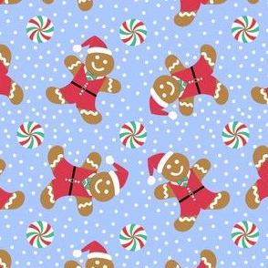 Christmas Gingerbread Boy Blue
