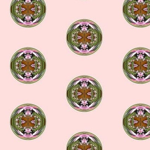 amazing circle 2 inch green and pink