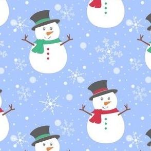 Snowman Top Hat Blue