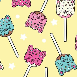 Kitty Cake Pop in Lemon