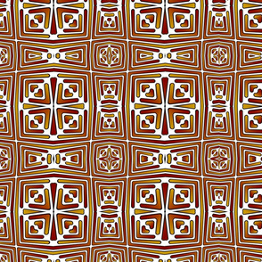 red and gold squares