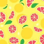 Hand Drawn Grapefruit   Yellow