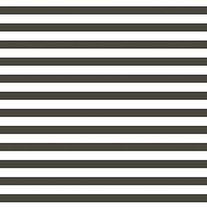 Off Black  French Ticking  Stripe