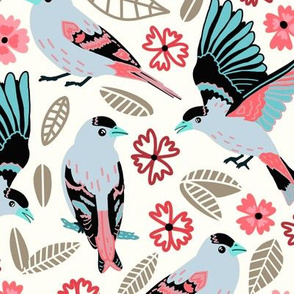 Fantasy Finches (Large Version)