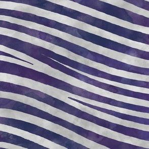 ★ ZEBRA SHIBORI ★ Indigo Purple Watercolor / Collection : Wild Stripes – Punk Rock Animal Prints 2