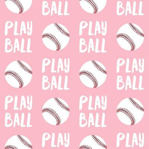 Play ball - baseball - pink - LAD19