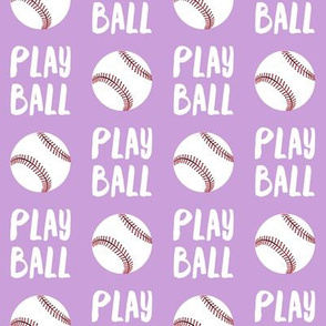 Play ball - baseball - purple - LAD19