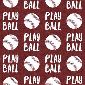 Play ball - baseball - red- 19