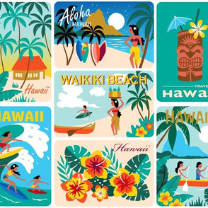 Hawaii Holiday Postcards