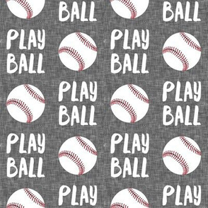 Play ball - baseball - grey - LAD19
