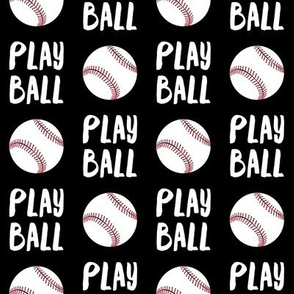 Play ball - baseball - black - LAD19