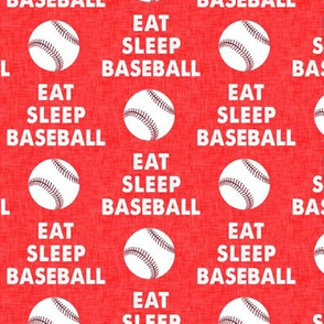 EAT SLEEP BASEBALL - Baseball - sports - red - LAD19