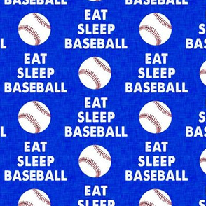 EAT SLEEP BASEBALL - Baseball - sports - royal - LAD19