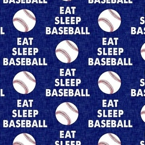 EAT SLEEP BASEBALL - Baseball - sports - blue - LAD19